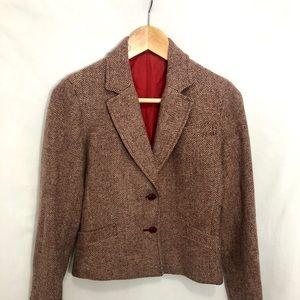 Casual Corner | Vintage Maroon Tweed Blazer